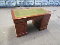 Desk - leathertop chesterfield