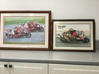 Other cycle pictures Carl fogarty & James Whitham one signed