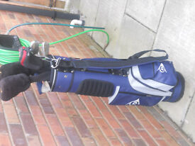 10 golf clubs and bag