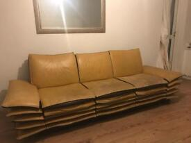 70's style leather sofa to go ASAP