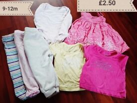 Girls 9-12m bundle £2.50