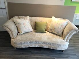 4 & 3 seater sofas with chair & foot stool
