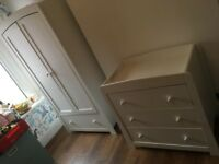 Wardrobe and chest of drawers for baby's room (M&P Mia range)