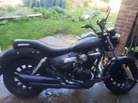 KEEWAY 125 MATT BLACK CRUISER TYPE MOTORBIKE