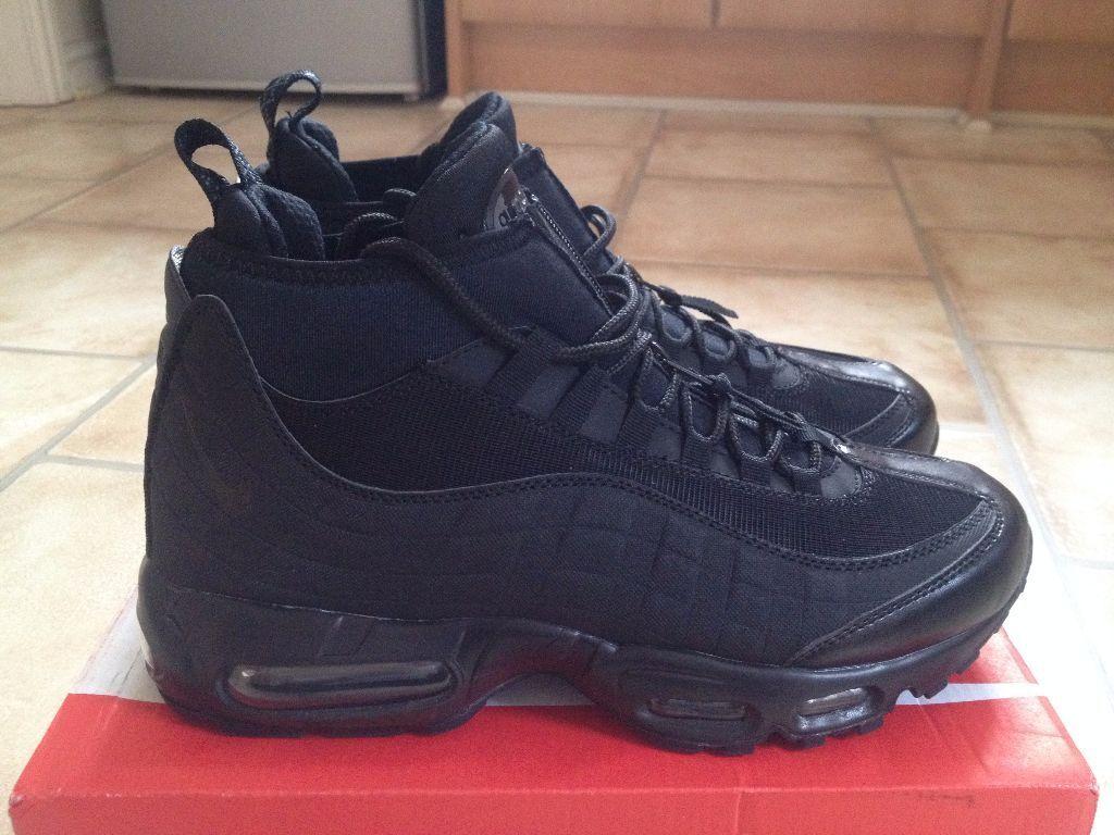 Nike 9 Air Max 95 Zapatillaboots Negro Talla 9 Nike Marca Nueva En Caja 5dc4d7