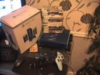 xbox 360 E special edition limited 500gb blue model 16 goodgames 2 blue pads all boxed