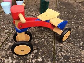 John Lewis wooden trike