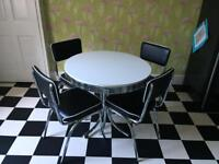 1950s fifties styles retro diner dining table and 4 chairs