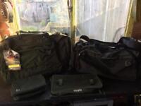 Carp fishing luggage Nash, Chubb and fox