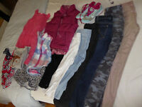 Large Bundle of girl clothes 9-10 years old inc Gap, Nike, M+S, H&M etc