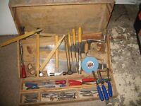mixed carpenters hand tools