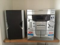FREE stereo system 3cd/ cassette player
