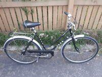 Vintage ladies city bike