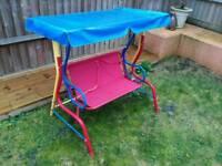 Children's garden chair swing