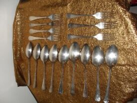 Silverplated/Electroplated Table Spoons and Forks