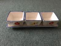 Dip tray set