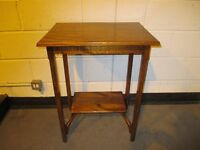 VINTAGE MAHOGANY TWO TIER WINDOW TABLE FREE DELIVERY
