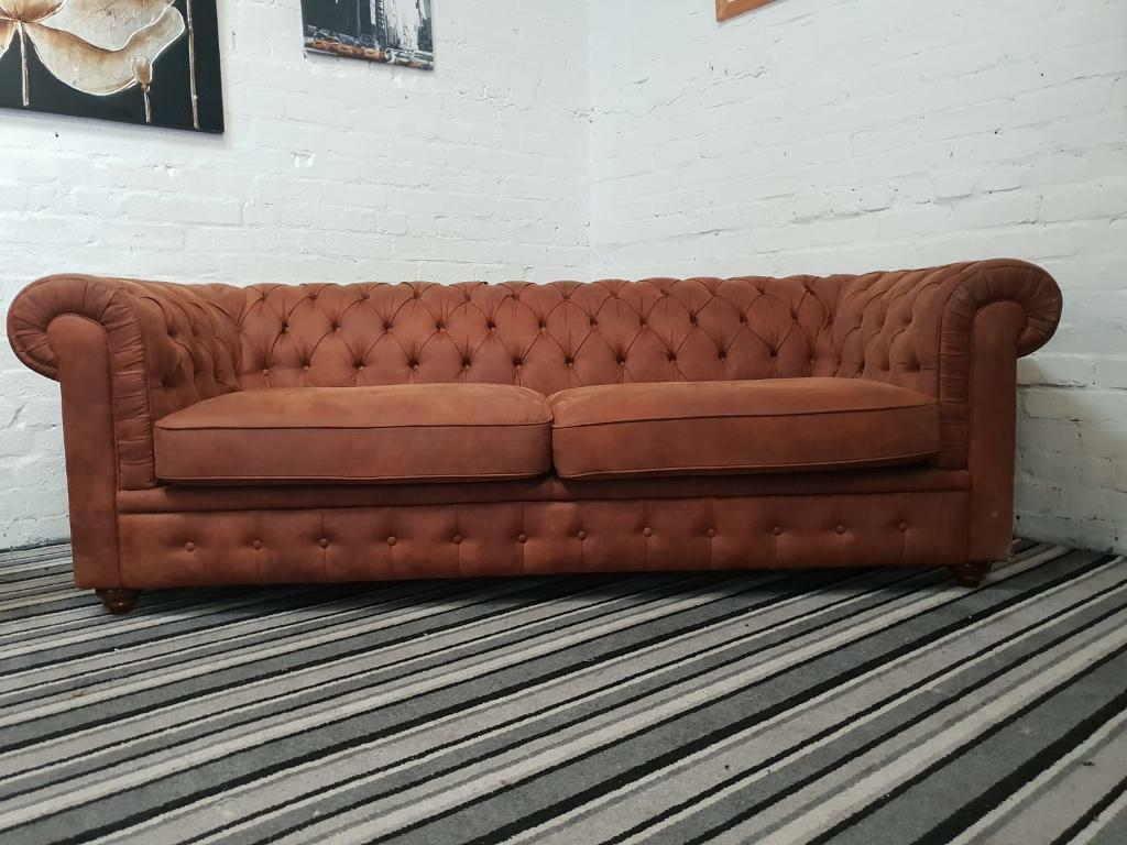 Suede Chesterfield Sofa Set 3 2 Seater