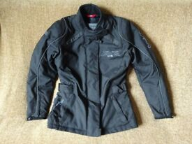 Mint condition ladies motorbike jacket, trousers, helmet and gloves for sale.