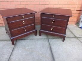 Pair of stag minstrel bedside cabinets