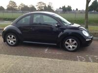 Black VW Beetle, 3 door hatchback, 2009, 48000 miles, manual, petrol, 1600cc, great condition