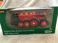 Brio Mighty Red Action Locomotive - 33592. Excellent condition in Original box.