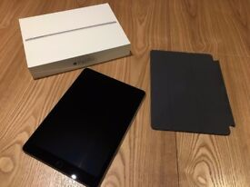 9.7 inch 128GB iPad Pro WiFi + Cellular Unlocked in Space Grey with Leather Cover