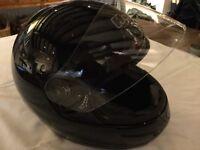 Small ladies smart motor cycle helmet worn once only