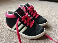 Girls Adidas Neo high tops size 11