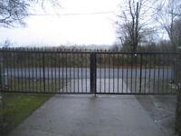 Large BlackCast Iron Driveway Gates