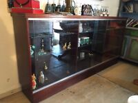 Large Sideboard - Mahogany Look - Retail Display Cabinet - Inside Lights - Reduced