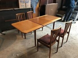 Teak meredew table and 4 chairs