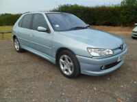 Peugeot 306 1.4cc 5 door hatchback. Drives great. Long M.O.T.