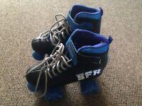 SFR Vision II Quad Roller skates/boots Size 1 (Black/Blue)