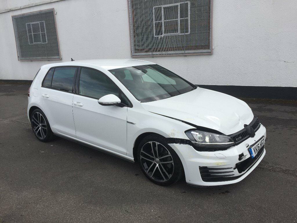 2016 volkswagen golf 2 0 gtd mk7 5 door alpine white unrecorded damaged salvage in walthamstow. Black Bedroom Furniture Sets. Home Design Ideas