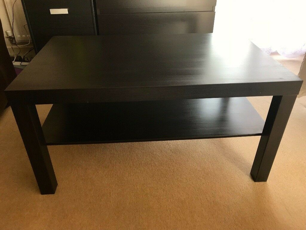 Ikea Coffee Table Lack Black Brown 90x55 Cm