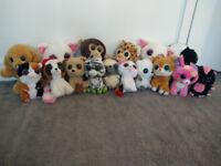 16 TY Beanie Boo Big Eyes Soft Toys