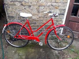 Vintage French 1970s Peugeot Ladies Town Bike - excellent condition