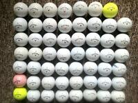 55 Callaway golf balls in very good condition, supersoft, warbird, CXR power,