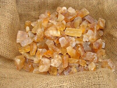 500 Carat Lots of Unsearched Natural Citrine Calcite Rough + A FREE Faceted Gem