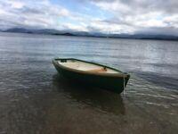Fibreglass Rowing boat tender, Dark Green/Douglas Fir