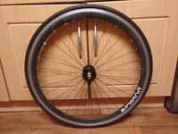 Black 700c Front wheel
