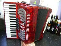 scarlatti 72 bass accordion light weight like new