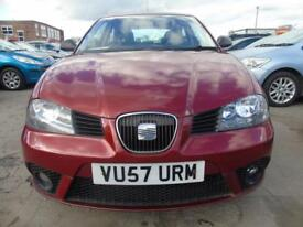 SEAT IBIZA 1.2 REFERENCE SPORT PETROL LOW MILES **3 MONTHS WARRANTY INCLUDED** (red) 2007