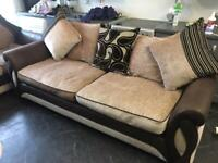 DFS SHANNON FABRIC SOFA SET 3+2 SEATER IN EXCELLENT CONDITION