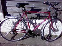 Hybrid mountain on bike Large frame