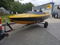 speed boad 14ft with a 60hp motor