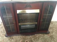 ELECTRIC FIRE WITH FULL SURROUND LIKE NEW