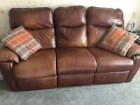 For Sale 3 and 2 Seater Reclining Sofa's No reasonable offer refused