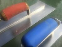 Refina Plaziflex 20 inch Plastic Skimming Trowel + Marshaltown PermaShape 14 inch Trowel.